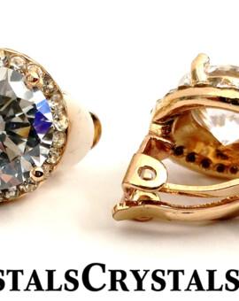 11MM Elegant Clip On Earrings ... Big, Bold and Beautiful!