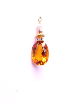 20+ Carat Oval Citrine Wire-Wrapped Gemstone Pendant